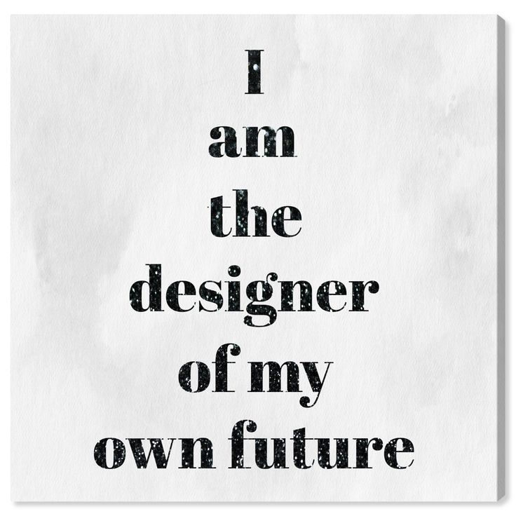 Runway Avenue Typography and Quotes Wall Art Canvas Prints 'Designer of my future' Motivational Quot