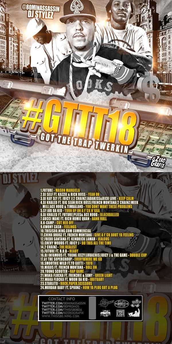 #Mixtape : @80MinAssassin Dj Stylez Presents : Got The Trap Twerkin 18 - #THISIS80