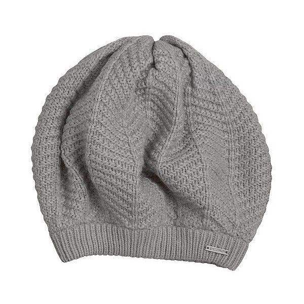 92e9158dcd4f2 Women s Herringbone Knit Beret Hat - Heather Grey