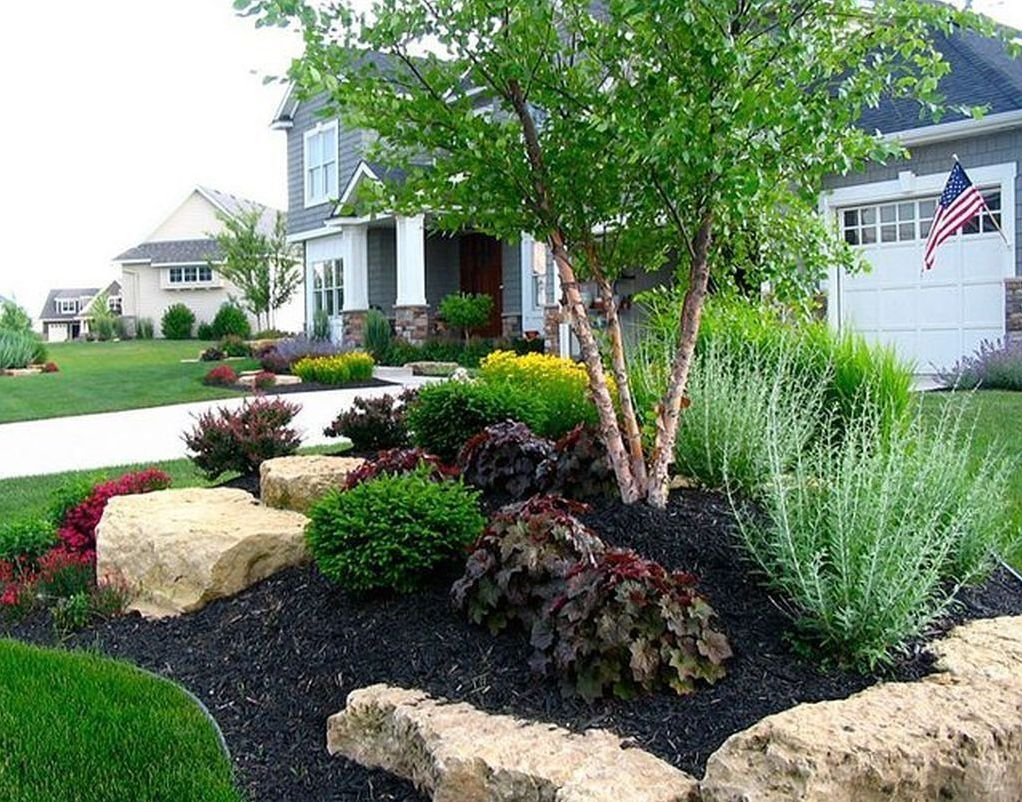 9 Beautiful Front Yard Landscape Design Ideas Futurian Front Yard Landscaping Design Rock Garden Design Outdoor Landscaping
