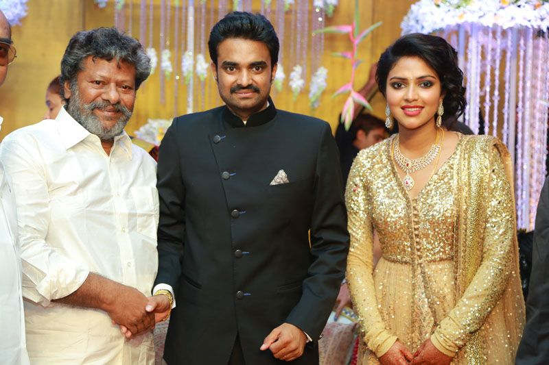 Rajkiran at Director Vijay and Amala Paul Wedding Reception