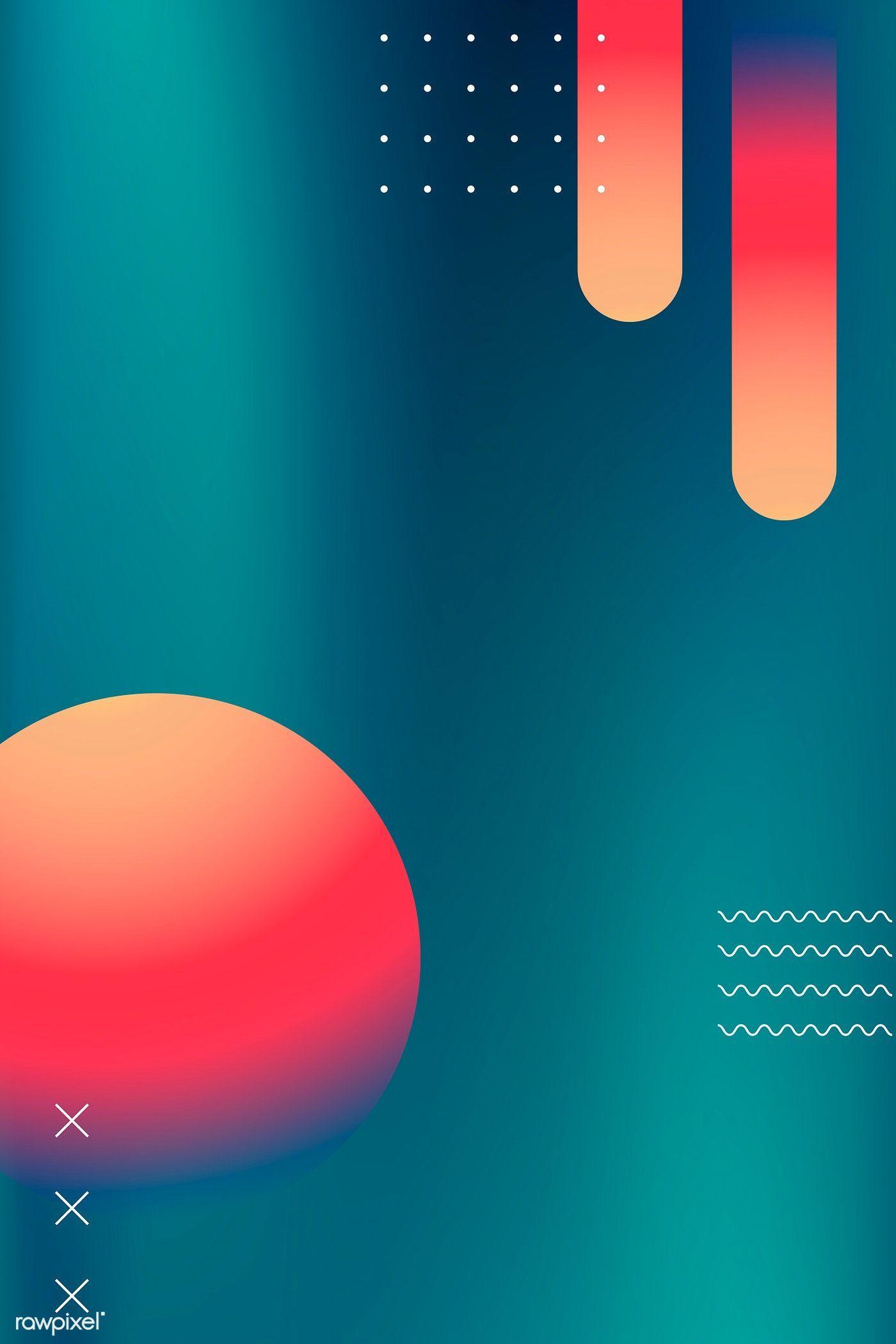 Colorful vibrant summer poster vector   premium image by rawpixel.com / 杜珮甄 #vector #vectorart