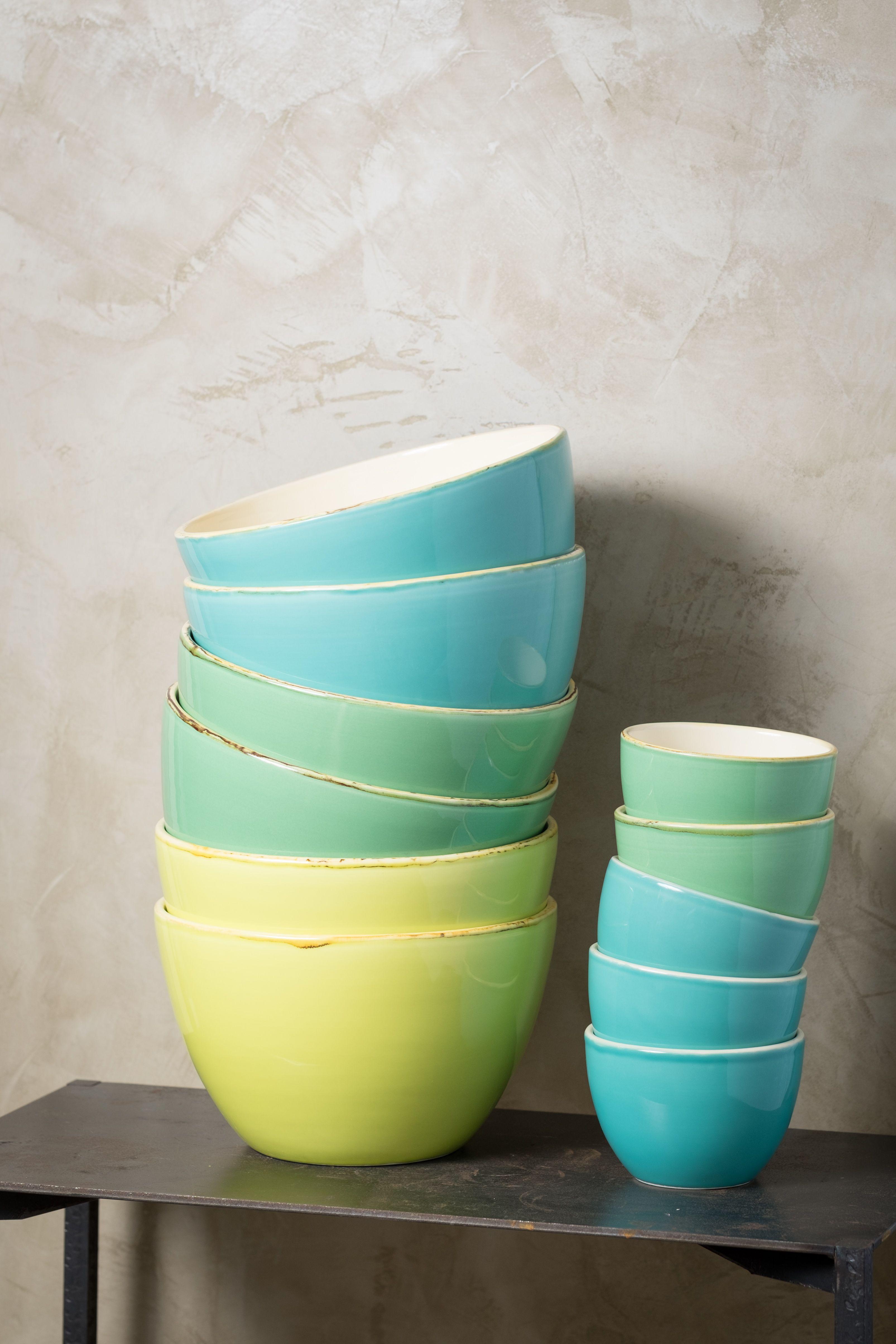 Schalen / Küche / Wohnzimmer / Gelb / Blau / Grün / Modern / Multicolored  Bowls