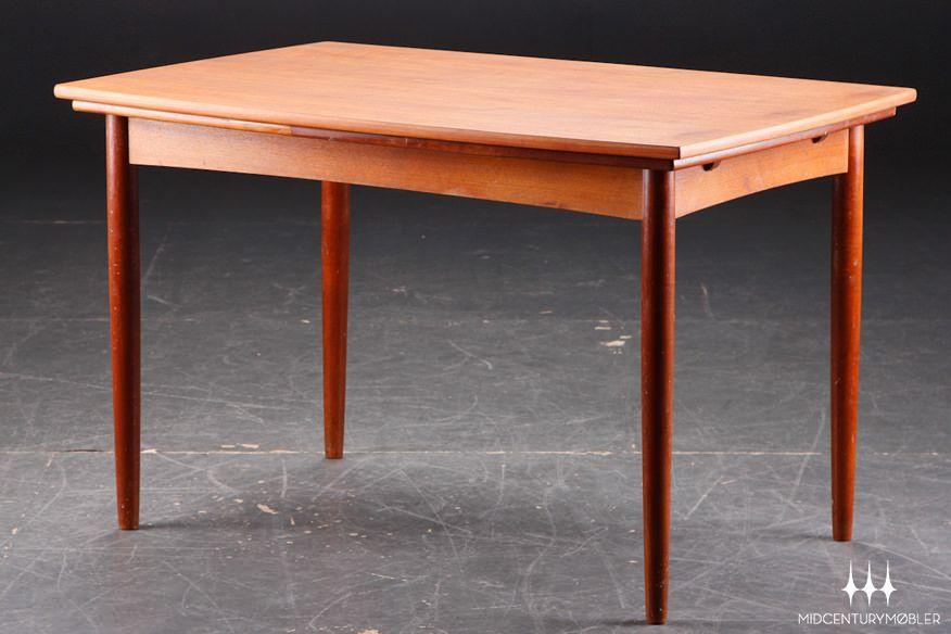 danish modern bowed edge teak dining table 1250