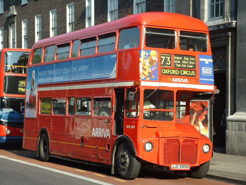 Rml2589 On Euston Road London Bus London Transport Routemaster