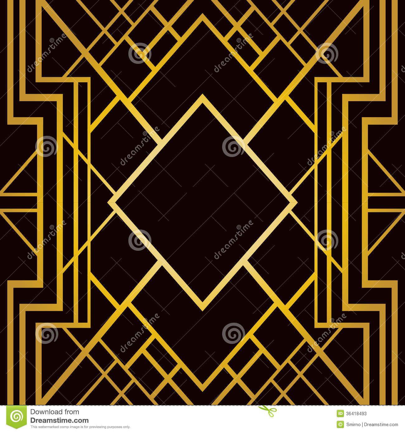 Art Deco Geometric Pattern Art Deco Pattern Art Deco Illustration Art Deco