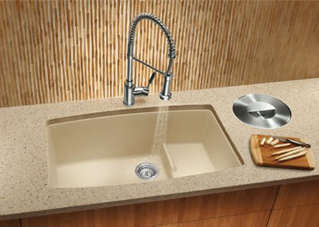 Blanco s biscotti silgranit ii sink with a countertop for Silgranit bathroom sinks