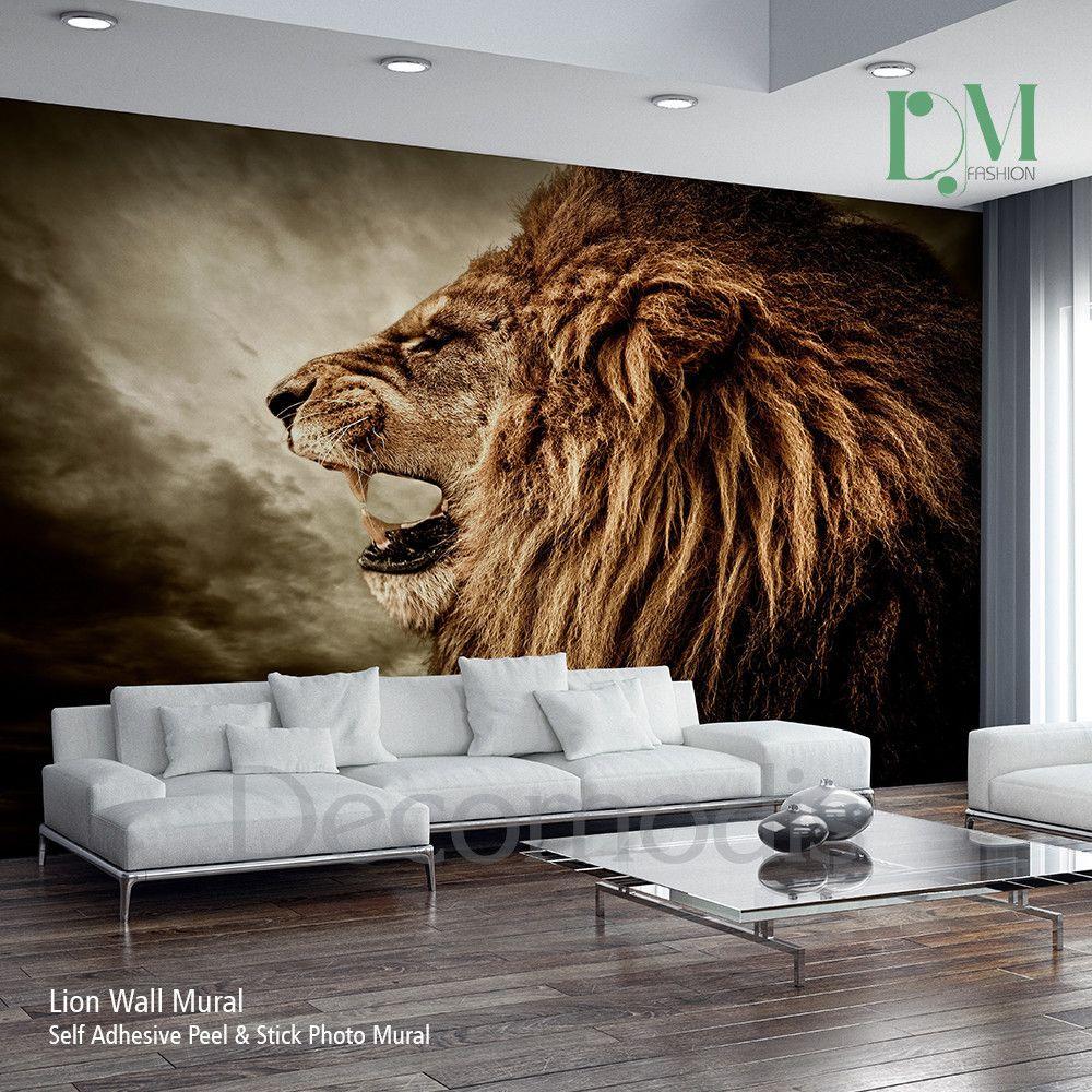 Lion Wall Mural Wild Lion E Self Adhesive Peel Stick Photo Mural African Lion Wallpaper Wall Murals Mural Wallpaper