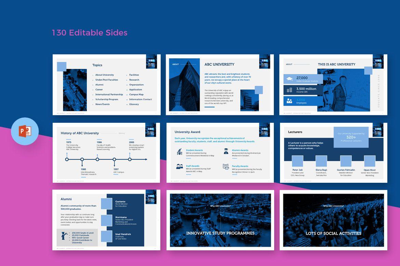University Education Powerpoint Template Design Pinterest