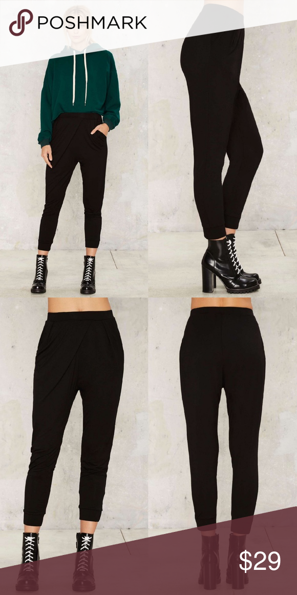 nasty gal on the grind jogger pants boutique fitted joggers