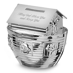 Personalized Noah's Ark Bank , Add Your Message