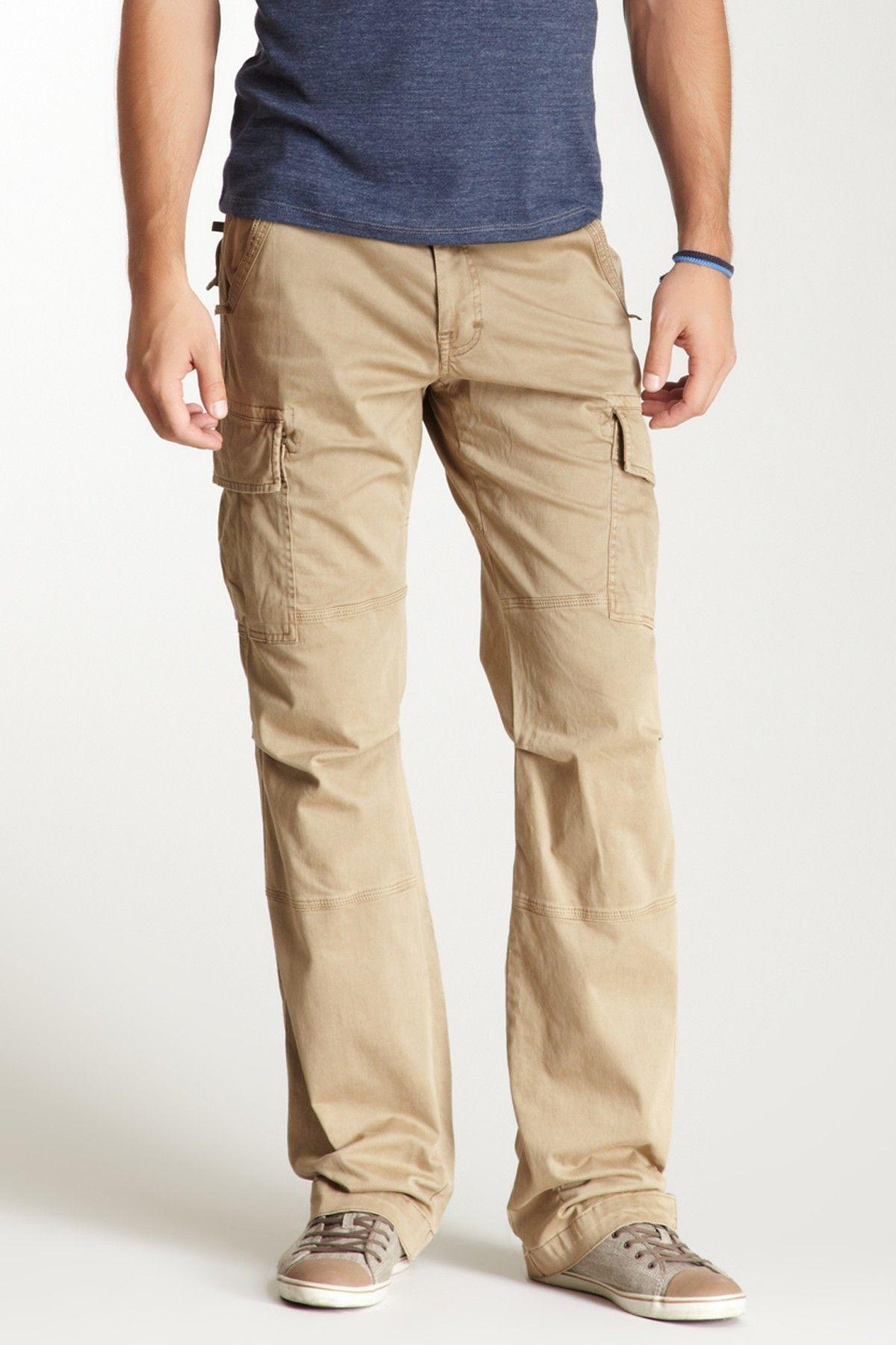 Slim bootcut cargo pants