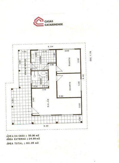 Planta de casa com 80 metros 400 549 for Casa minimalista 80 metros