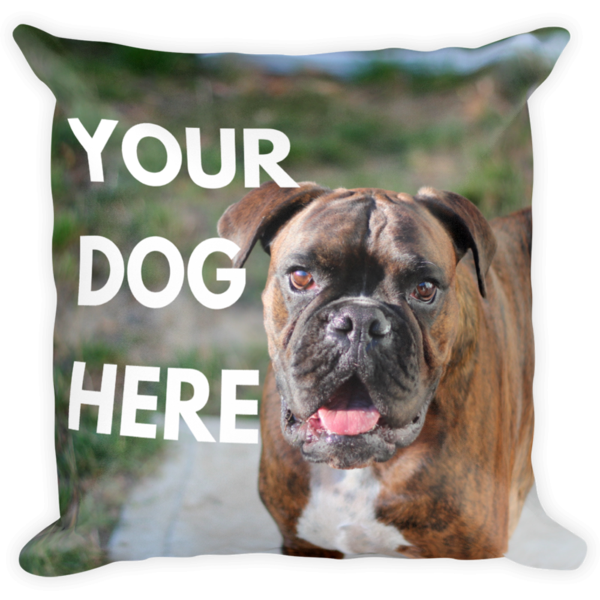 Custom Dog Pillowcase Custom dog pillow, Dog throw