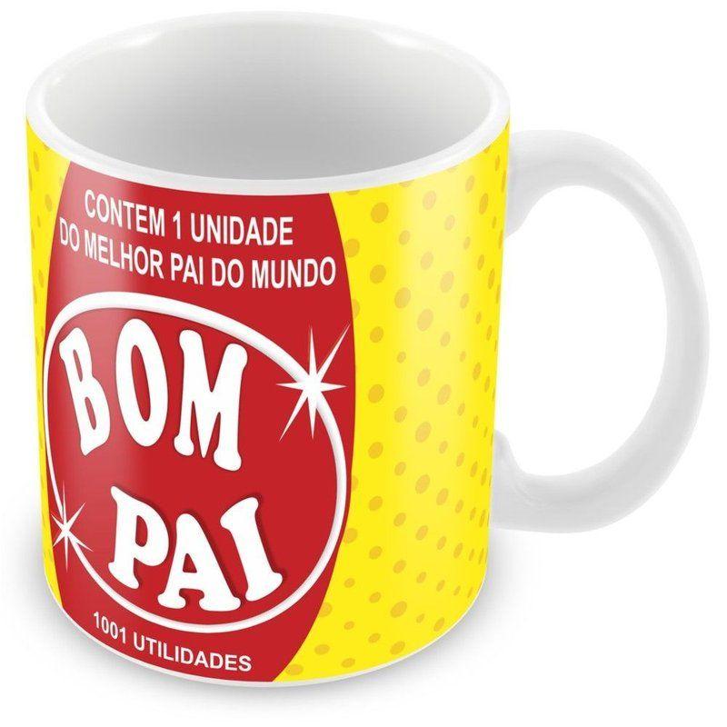 Caneca Porcelana Personalizada Pai Bombril 1001 Utilidades
