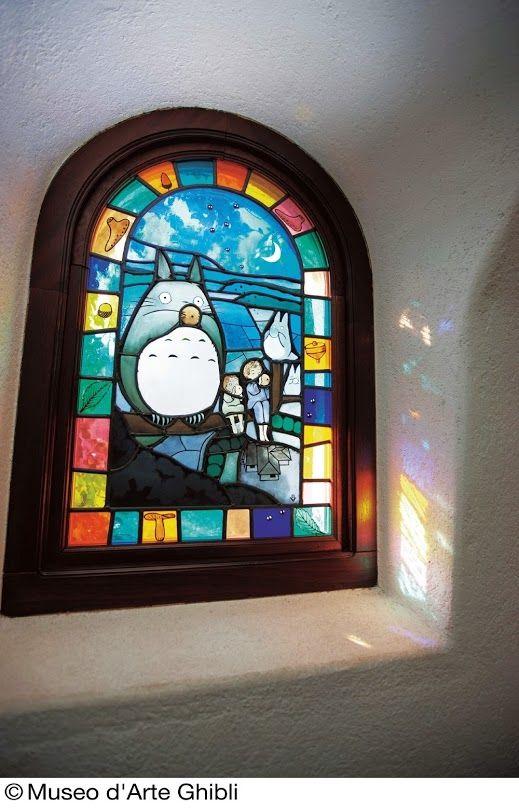 今日はジブリ美術館3月度入場チケットの発売日 ステンドグラスも綺麗に見える季節です ちなみに 美術館の屋上からは富士山が見えるそうですよ Google ジブリ美術館 美術館 ステンドグラス