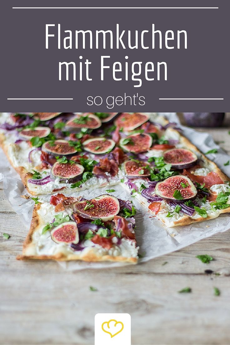 flammkuchen mit ziegenk se und feigen rezept leckere rezepte tasty recipies pinterest. Black Bedroom Furniture Sets. Home Design Ideas