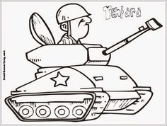 Gambar Mewarnai Profesi Tentara Education Coloring Pages For