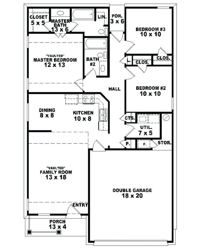 Plan De Maison Plain Pied 4 Chambres Rraf Info - politify.us | Maison plain pied, Plan maison ...