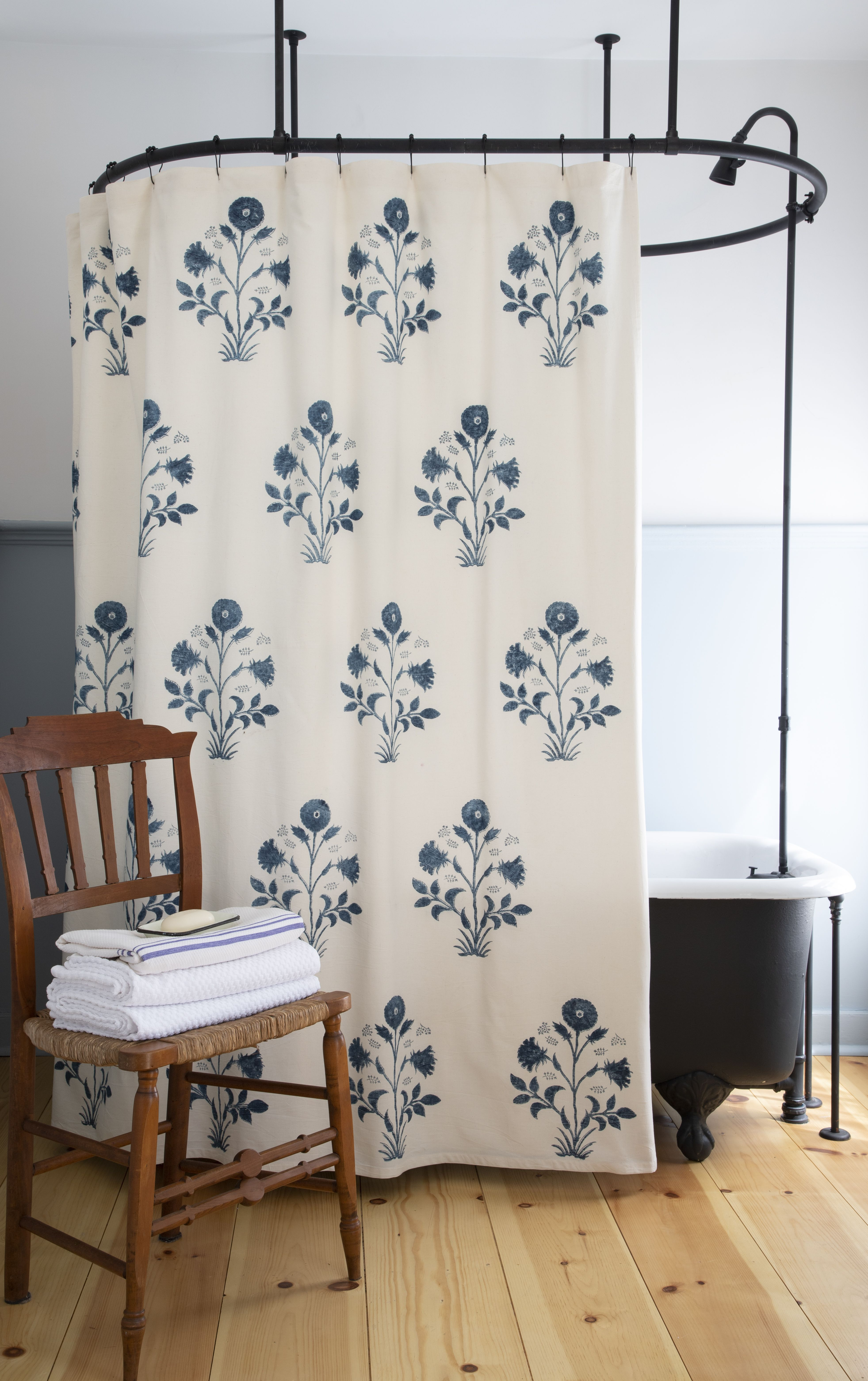 Veronique Shower Curtain In Indigo Cute Shower Curtains Modern