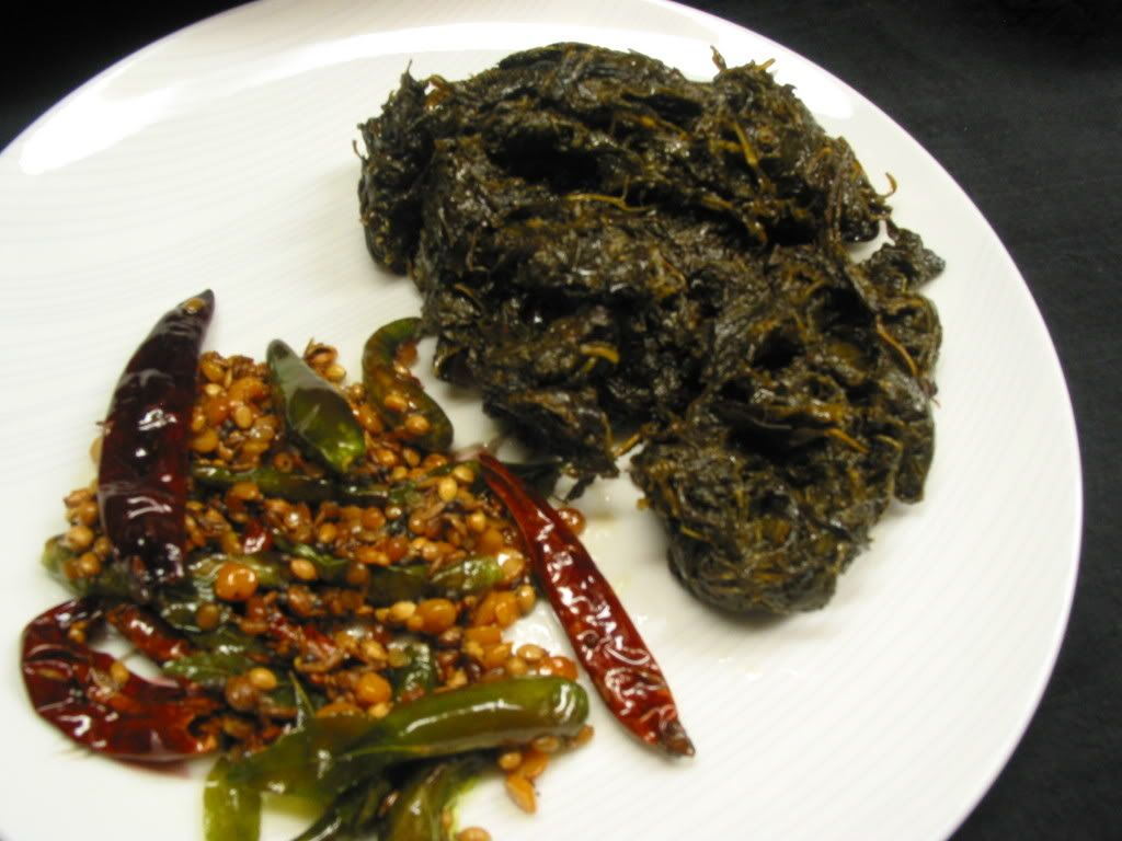 Curry In Kadai ~ An Indian Cooking Blog: Gongura Pachadi / Sorrel Leaves Chutney / Pulicha keerai Chutney / Chukka Bhaji