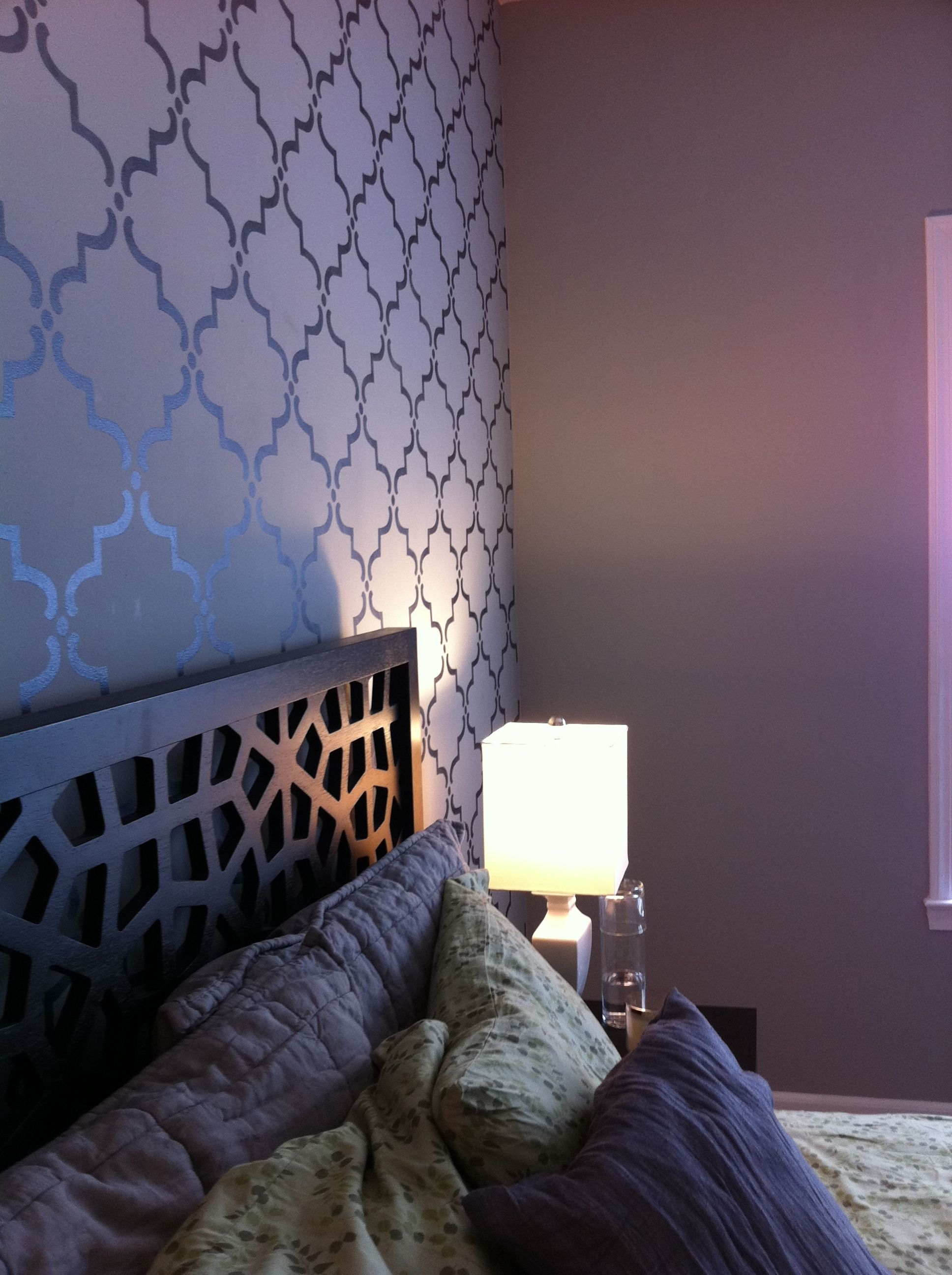 Picture this only dark grey walls and the design as a - Dark gray bedroom walls ...