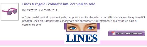 Occhiali da sole gratis con LINES  - http://www.omaggiomania.com/omaggi-con-acquisto/occhiali-sole-gratis-lines/