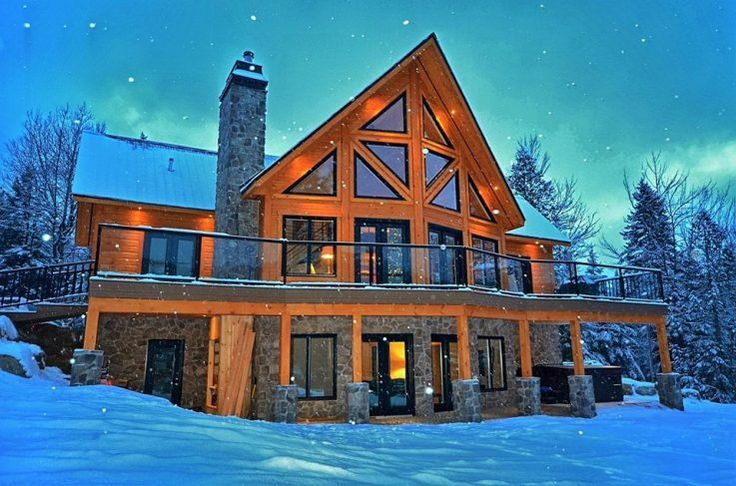Dream Log Cabin Home In Winter Log Cabin Homes Log Home Plans Cabin Homes