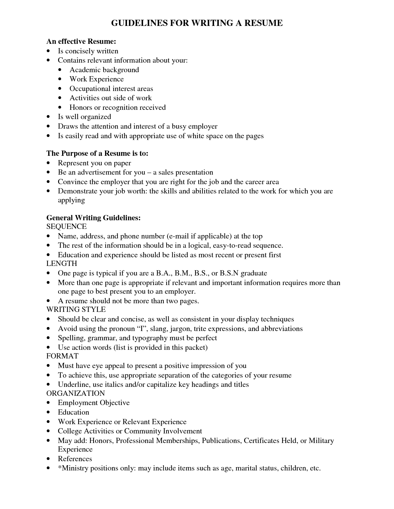 guidelines for resume writing kalushvideocomwriting a resume cover letter examples - Guidelines For Resume