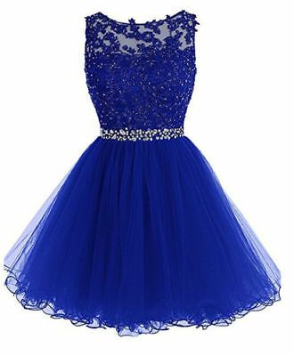 Short Homecoming Dress Bridesmaid Formal Party Club Cocktail Prom Dress Size6-20 -   15 dress Cortos azul ideas