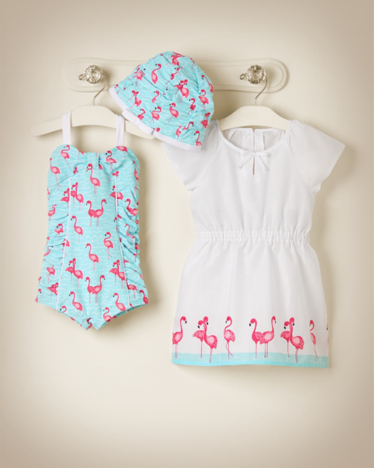 09be175581fc Island Flamingo | Seaside Summer | Baby, Baby girl fashion, Baby kids