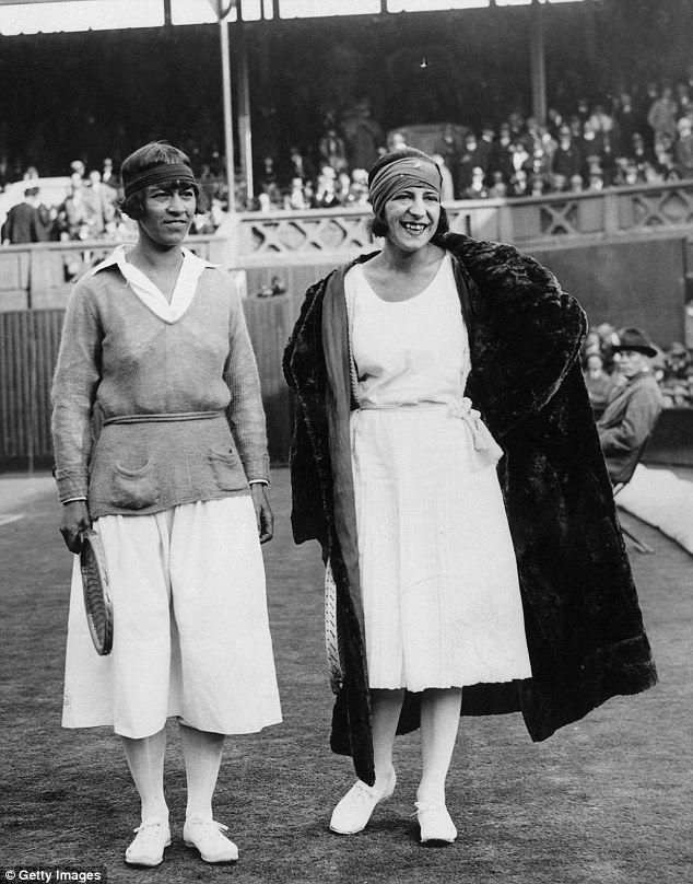 Suzanne Lenglen i Molla Mallory, 1922, Wimbledon