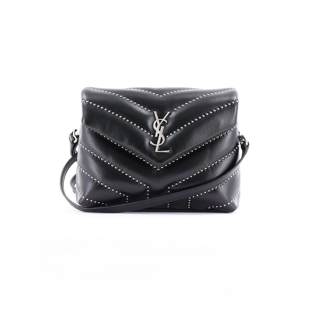 2533c99a1d4 SAINT LAURENT-Loulou Studded Toy Bag in Matelasse Y Shiny Leather   saintlaurent  designer  bag  black  YSL  trend  crossbodybags