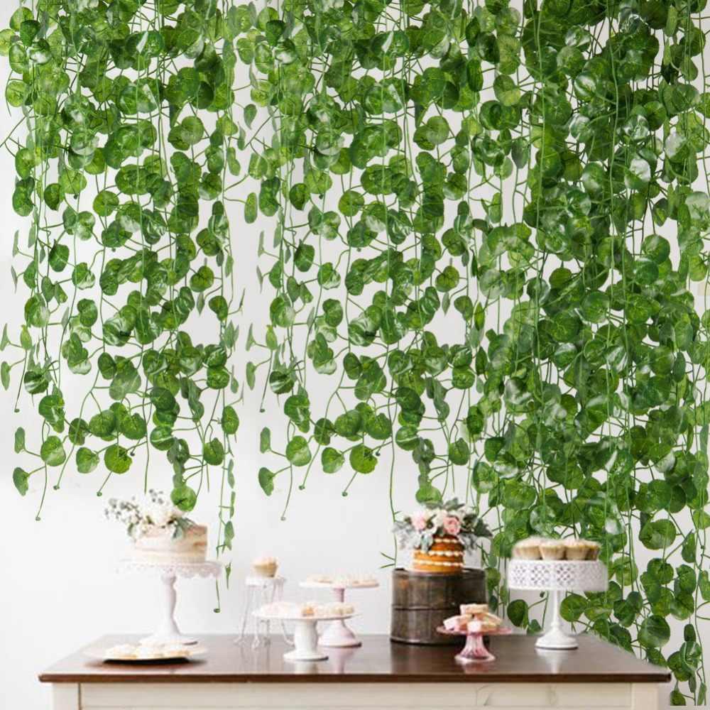 2m Artificial Green Leaf Ivy Wall Decor Room Decoration Fake Plants Vine Wedding Para Succulent Indoor Artificial Plant Garden Aliexpress Plant Wall Decor Ivy Wall Plant Decor Indoor