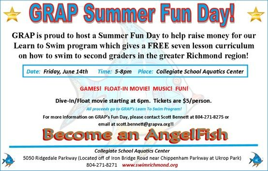 Grap Summer Fun Day Friday June 14 5 8pm This Event Is Being Held