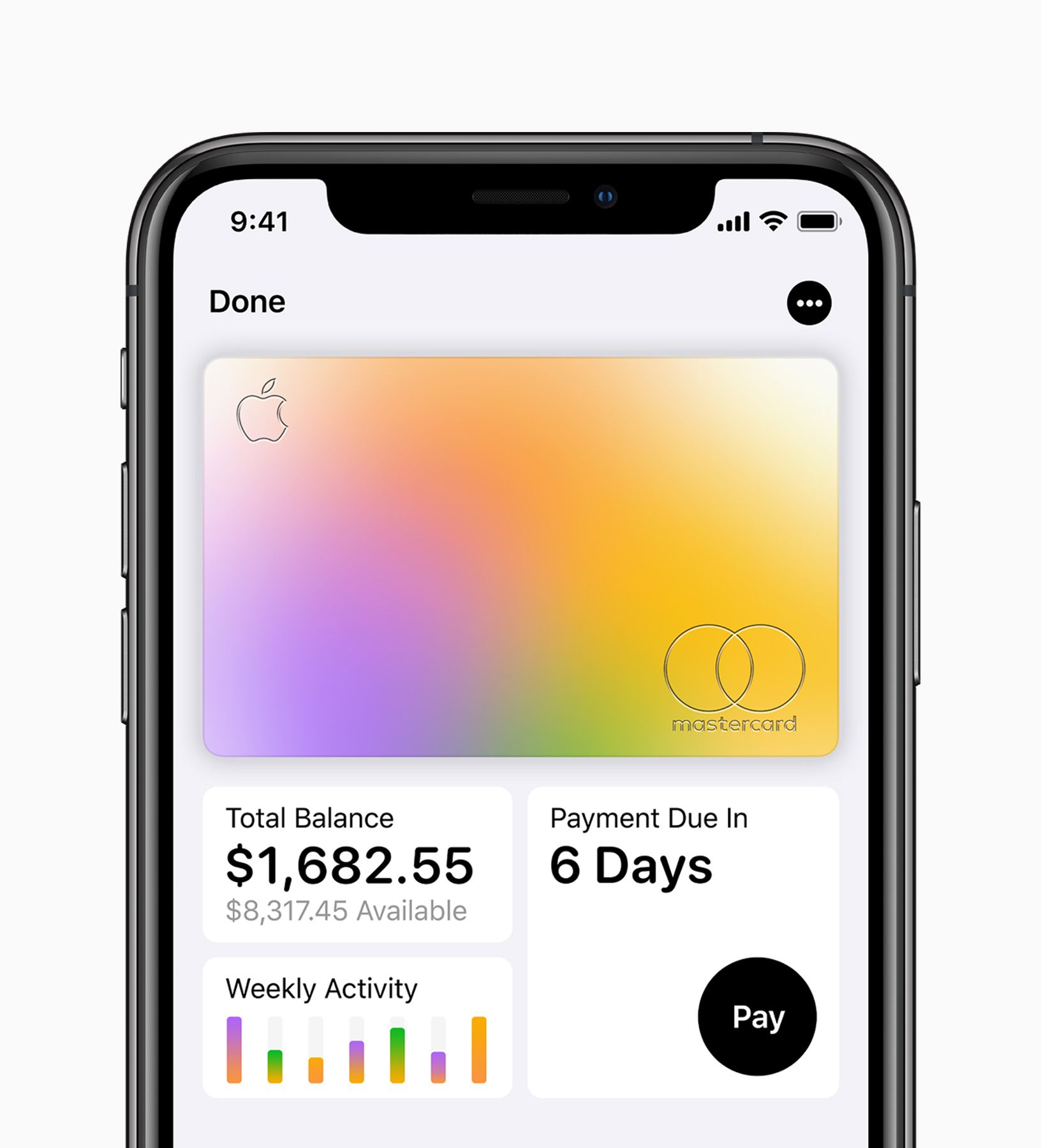 Apple Card available today card on iPhoneXs card payment