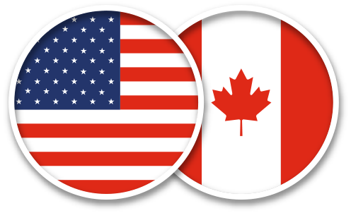 Usa And Canada Flag Icon Mirror With Lights Princess Canopy Bed Makeup Mirror With Lights
