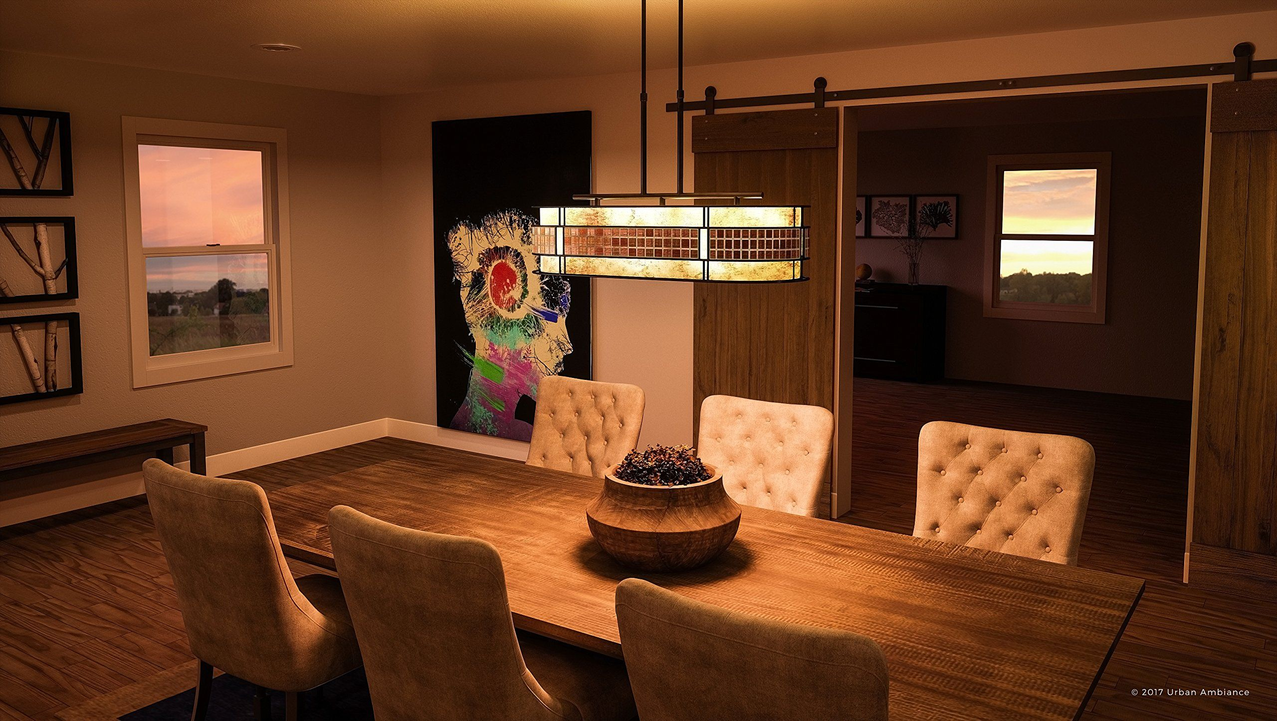 Luxury Art Deco Linear Chandelier Large Size 21H X 37W