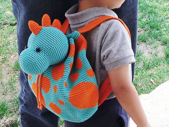 Crochet Pattern For Dino Backpack Cute And Practical Accessory For