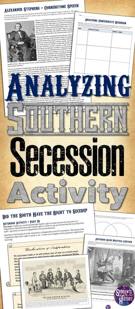 Photo of Secession of the South Lesson Plan and Activities