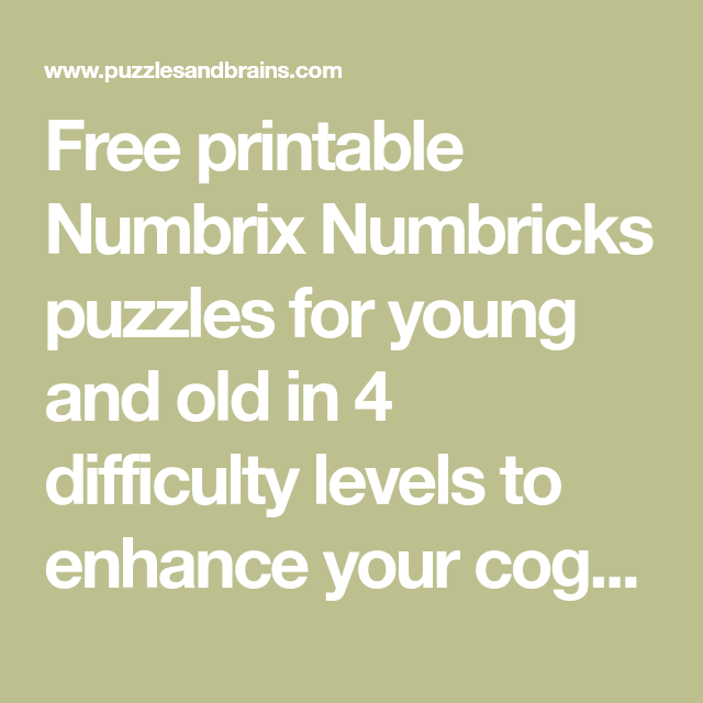 picture regarding Numbrix Printable known as Free of charge printable Numbrix Numbricks puzzles for youthful and previous