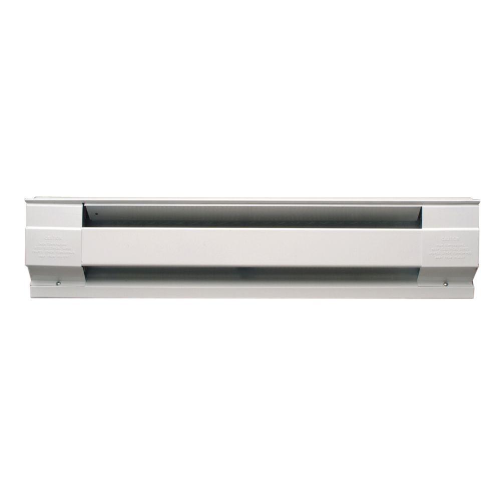 Cadet 36 In 750 Watt 240 Volt Electric Baseboard Heater In White 3f750w Electric Baseboard Heaters Baseboard Heating Baseboards