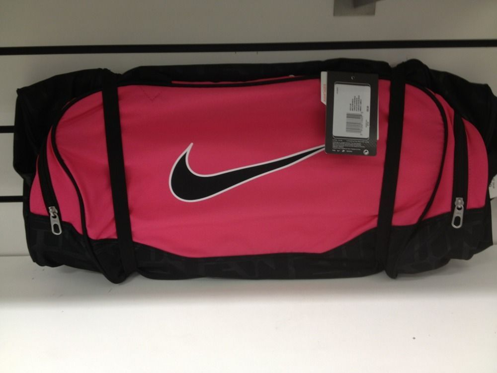 7ea09b8f8c NEW Nike Duffel Bag Brasilia 5 Pink Black Medium Bag Gym Duffle Women  Sports  Nike  DuffleGymBag