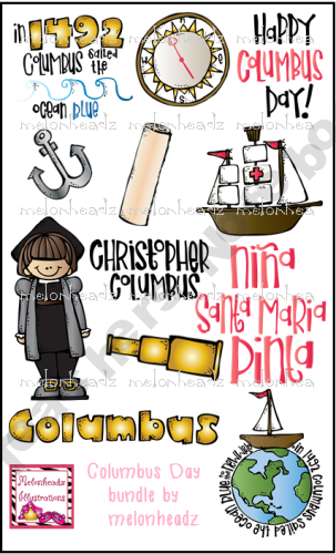 Columbus Day Line Art Bundle From Melonheadz Illustrations On Teachersnotebook Com 14 Pages Material Didactico Primaria Tipos De Texto Ingles Para Preescolar
