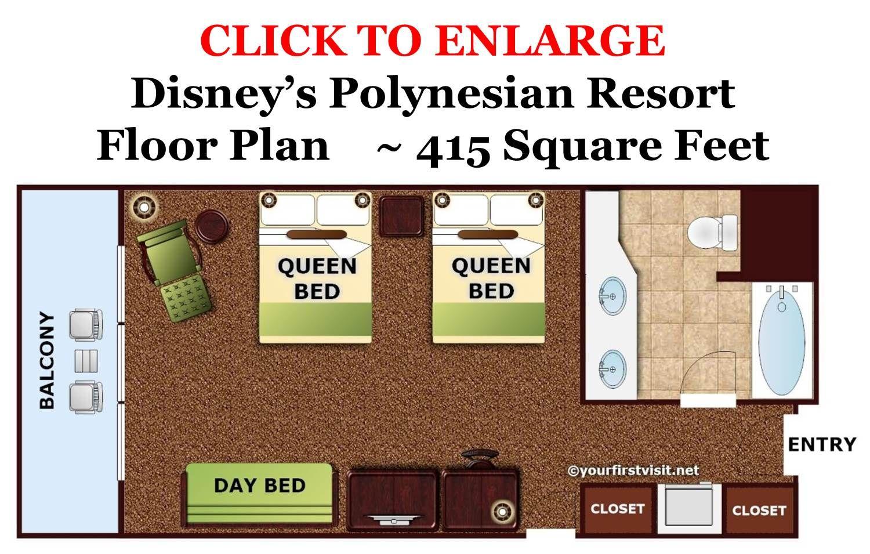Photo Tour Of A Standard Room At Disney S Polynesian Village Resort