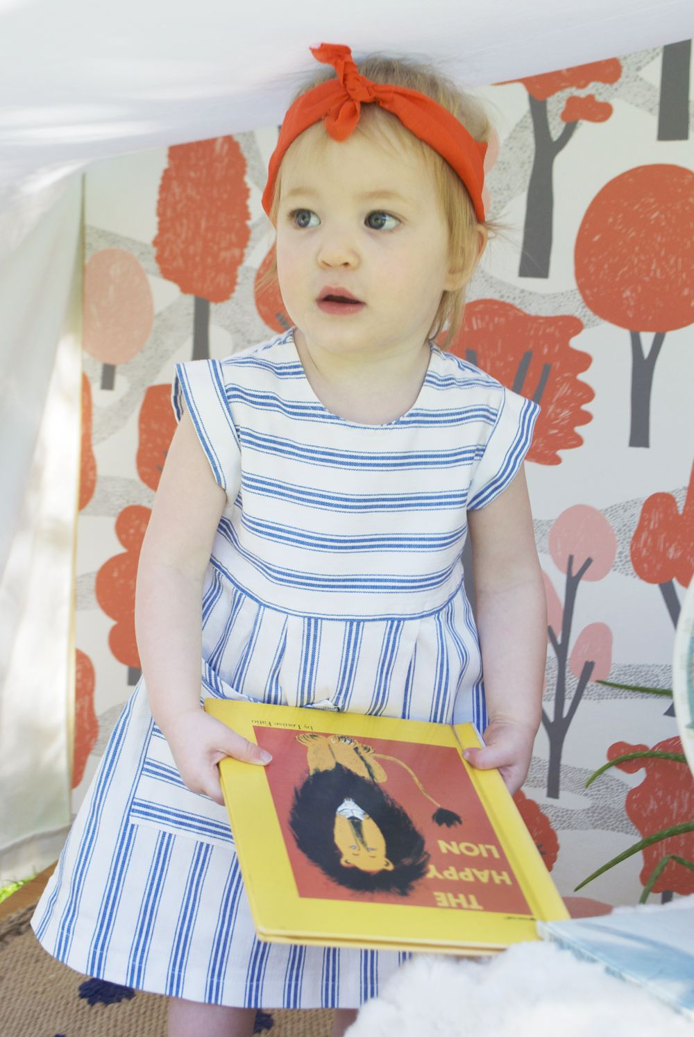 Sweet dress | from Mer Mag's outdoor book nook with pottery barn kids