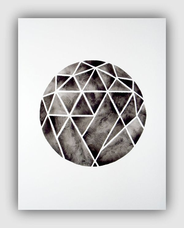 Serene: Handmade Watercolor Art from Geometric Ink | Art ...