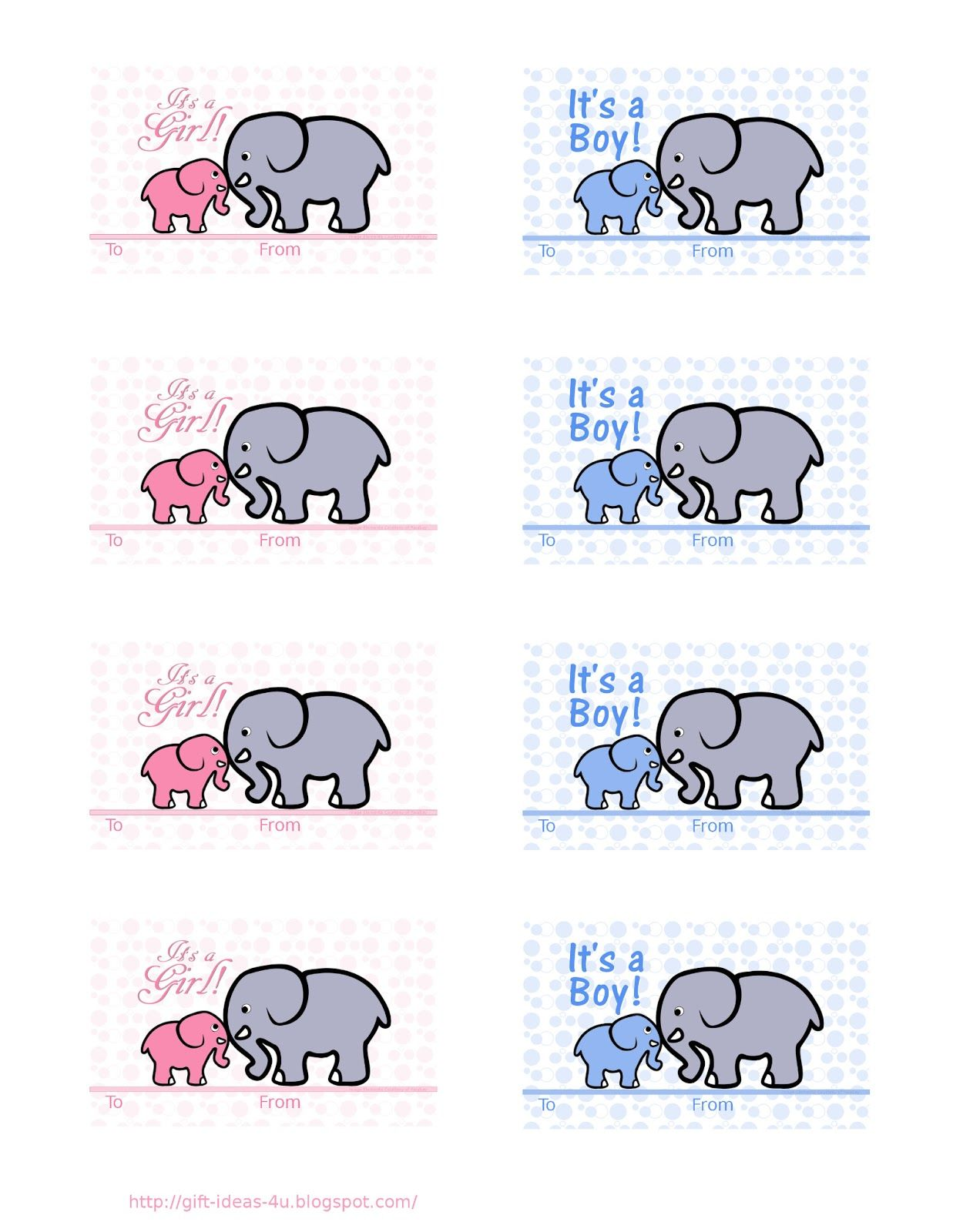 Free Printable Baby Shower T Tags Two Cute Designs One In Pink And One In Blue A Mother