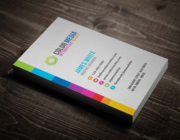 Color Business Card Graphicriver Item For