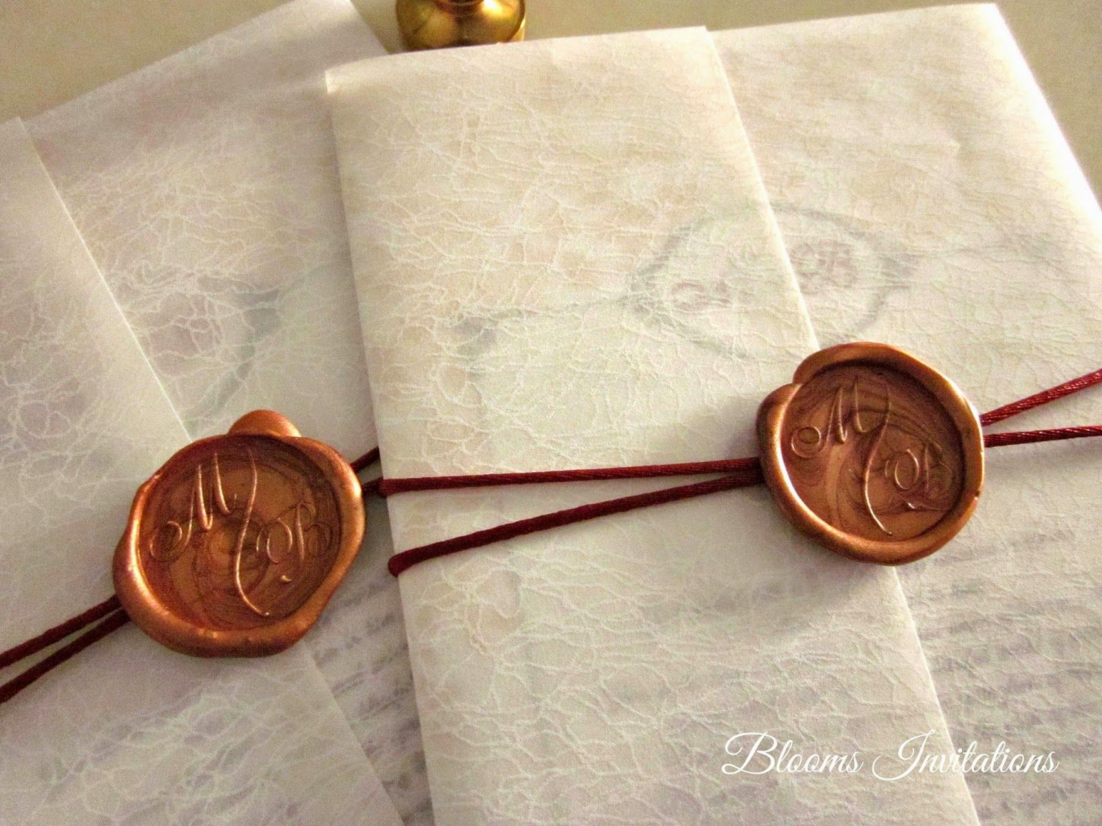 Wax Seal Wedding Invitation can get them at Art Friends at the Curve ...